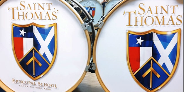 SAINT THOMAS<br> EPISCOPAL SCHOOL<br> PIPE BAND